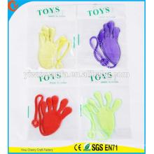 Diseño de la novedad Interesing truco Funny Kids Gift colorido juguete de mano pegajosa