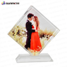 China Suplier High Quanlity sublimation glass crystal photo picture frame for wholesales