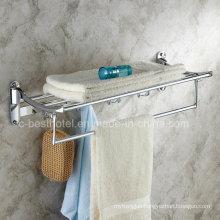 Hotel Style Bathroom Chrome Plated Towel Rack Brass Bath Towel Rack
