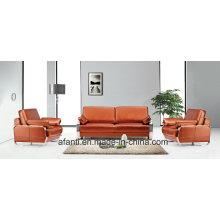 Sofá secional em sala de estar de couro em metal (RFT-Fu-1/3)