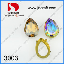 Pierres de fantaisie en cristal Ab Color avec réglages de griffes