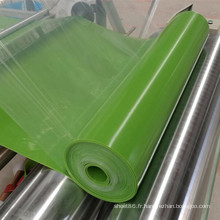 Feuille de silicone brillante de feuille de caoutchouc de silicone de couleur verte