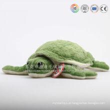 Almofada de animais marinhos de pelúcia de cabelos longos, almofada de tartaruga de pelúcia