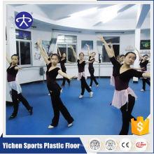 Feuille de plancher laminée de vinyle de PVC de studio de danse d'intérieur