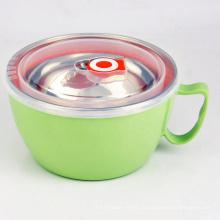 нерушимая необычная миска супа из нержавеющей стали на 24 унции рисовая лапша с крышкой