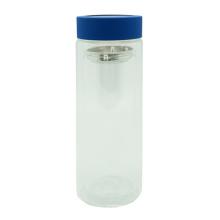 Botella de té de cristal doble pared 380ml con colador