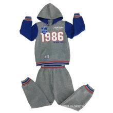 Traje de rana de manga larga, Traje de pista en sudaderas con capucha y cremallera en ropa infantil Swb-108