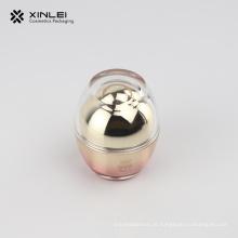Frasco de acrílico para cosmético vazio de 30 g em formato de ovo
