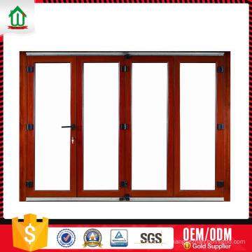 Puerta plegable plegable ligera de aluminio de encargo de la calidad de la exportación Puerta plegable ligera ligera de encargo de encargo de la calidad de la exportación