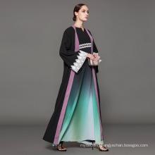 Owner Designer brand oem label manufacturer women Islamic Clothing customfront open abaya muslim cardigan abaya kimono