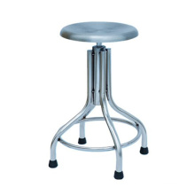 Stainless Steel Doctor Stool With Rubber Glider
