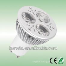 3.6w gu10 smd bombillas de proyección