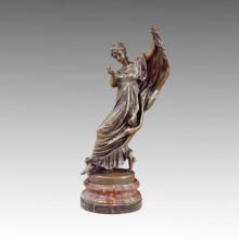 Escultura de bronce de la escultura de la estatua del bailarín de la bailarina, JL Gerome TPE-490