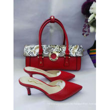 Red Pointy High Heel Sandaletten und Matched Handtaschen (G-35)