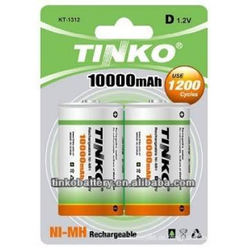 von Shenzhen berühmten Industrie Unternehmen 1.2v wiederaufladbare Batterie mit guter Qualität