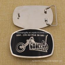 Boucle de ceinture en argent personnalisée en argent 2016 avec émaillage doux