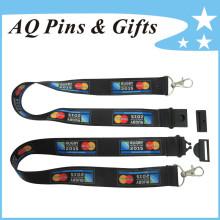Cordones de poliéster personalizados con logotipo (Lanyard-018)