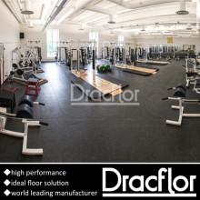 Pavimento de ginástica de PVC de alto desempenho para Fitness Club