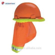 De haute visibilité de pare-soleil de protecteur de chapeau dur de protecteur de visibilité de dépôt de sécurité pour tout le chapeau et le chapeau de sûreté