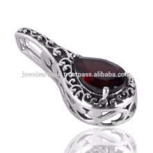 Garnet Gemstone 925 Solid Silver Pendant