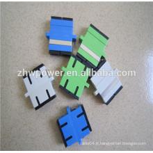 Adaptateur à fibre optique simple / monomode et multimode simplex et duplex sc pc / apc