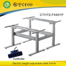Motor driven height adjustment desk with 2 seat Adjustable desk lifting column