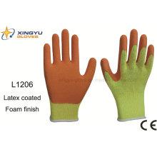 10g T / C Shell латексная пена покрытием безопасности работы перчатки (L1206)