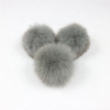natural genuine fox fur pom ball  fox fur pompoms