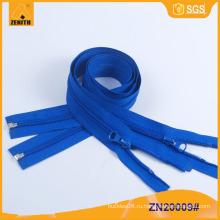 Нейлоновая молния с открытым концом Пластиковый нижний упор 5 # Молнии ZN20009
