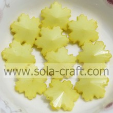 Christmas Beaded Snowflake Ornament Fashion Jewelry Loose Yellow 14MM Findings With Snowflake Design
