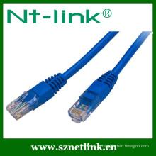 Cor cinzenta Conexão rápida UTP Cat5e Patch Cable 1Meter