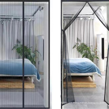 Hot selling magnetic mosquito curtain net for door with strong magnets to keep fly bug out