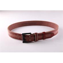 Cinturão de couro colorido mais novo com furo e costura para calças de ganga