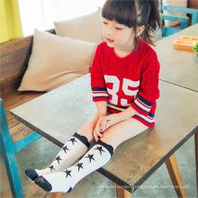 Japan Popular Pattern Feet Slimming Logo Teen Girl Sock Women Neon Green Tube Knee High Socks