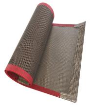 High temperature resistance ptfe coated fiberglass mesh conveyor belt for food conveyor