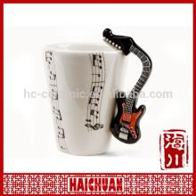 horn shape music mug