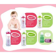 Botella de alimentación de bebé de vidrio borosilicato neutro