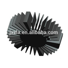 Heißer Verkauf Efficiency runde geführte Aluminium extrudierte LED-Kühlkörper / LED-Heizkörper