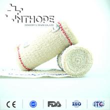 Brown Color elastic cotton spandex Crepe bandage with CE FDA ISO