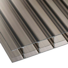 2100*5800 size uv coated anti fog anti scratch pc lexan multiwall double wall 5mm twin wall hollow polycarbonate sheet