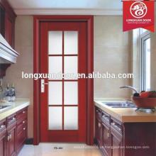 Design de porta de cozinha de vidro, porta de cozinha de madeira maciça composta