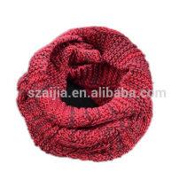 Senhoras inverno fio tingidura cor tricô infinidade cachecol