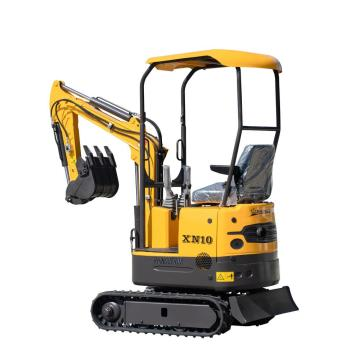 Hot sale 1 ton mini excavator household excavator machine mini hydraulic crawler excavator