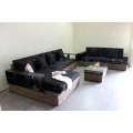 Luxurious Water Hyacinth Sofa Set For Indoor Use Living Room Natural Wicker Furniture