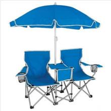 Asiento de camping con doble asiento y sombrilla (SP-117)