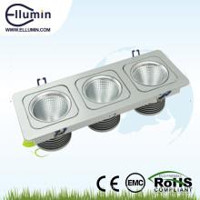 Quadrado Downlight do diodo emissor de luz de 3 * 10W três cabeças