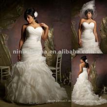 NY-2414 Ruffled Organza Hochzeitskleid