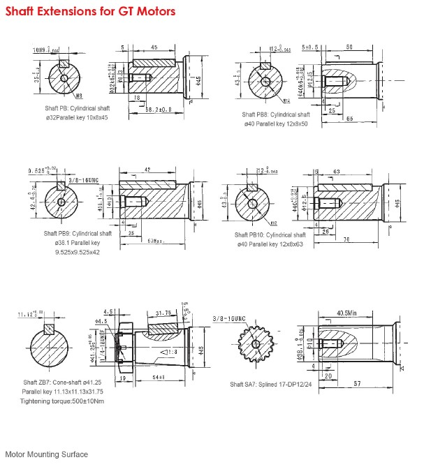 Shaft Extensions for GT Motors-1