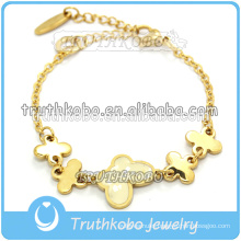 Shiny polishing Stainless steel Fashionable Anklet or Neckalce with flower charms ladies jewelry & accessories findings for girl