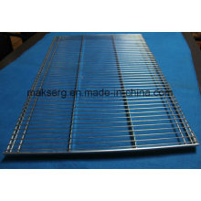 Estantes móveis de arame metálico para supermercados revestidas de zinco